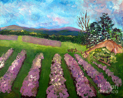Landscape Painting - Lavender Fields by Donna Walsh