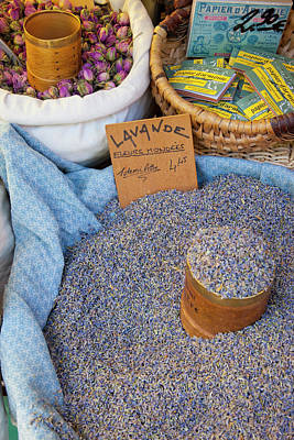 Lavender For Sale At Market Day Print by Brian Jannsen