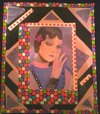 Acrylics Mixed Media - Lavender Lady by Lisa Deneka