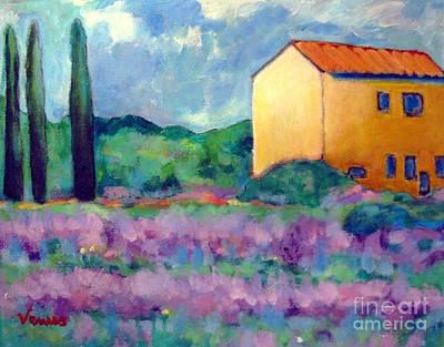Painting - Lavender Landscape by Venus