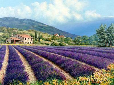 Michael Swanson Painting - Lavender by Michael Swanson