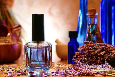 Lavender Shop Print by Olivier Le Queinec