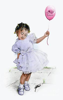 Lavender Drawing - Lavender Steps by Alonzo Davis