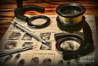 Law Enforcement - Fingerprint Analysis Print by Paul Ward