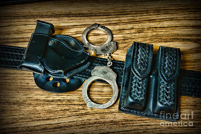 Law Enforcement - Police -duty Belt Print by Paul Ward