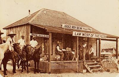 Old Western Photograph - Law West Of The Pecos by Pg Reproductions