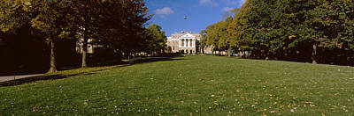 Lawn In Front Of A Building, Bascom Print by Panoramic Images