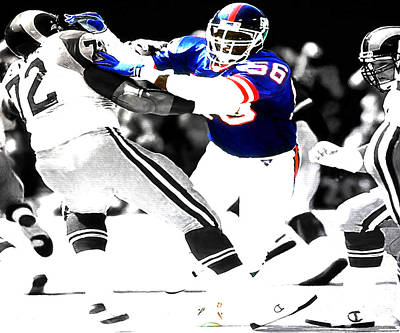 Lawrence Taylor Out Of My Way Print by Brian Reaves