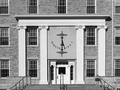 Clemson Photograph - Lawrence University Main Hall Sundial by University Icons