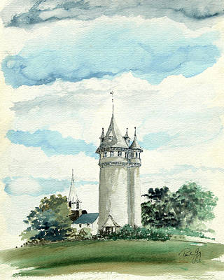 Water Tower Painting - Lawson Tower Scituate Ma by Paul Gaj