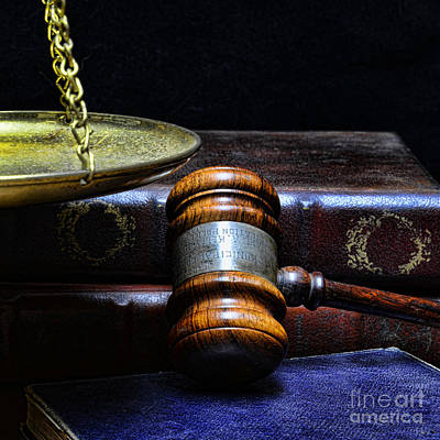 Lawyer - Books Of Justice Print by Paul Ward