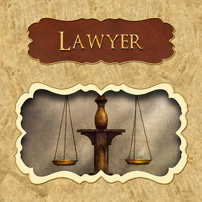 Lawyer Button Print by Mike Savad
