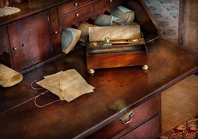 Sepia Ink Photograph - Lawyer - Important Documents  by Mike Savad