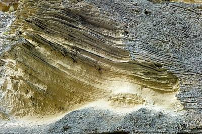 Layered Calcareous Sandstone Print by Dr Jeremy Burgess