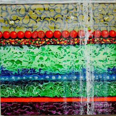Lettuce Mixed Media - Layered Salad by Freddie Lieberman