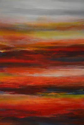 Abstract Painting - Layers II by Andrada Anghel