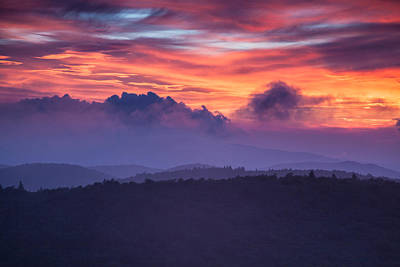 Layers Of Cloud And Land Print by Rob Travis