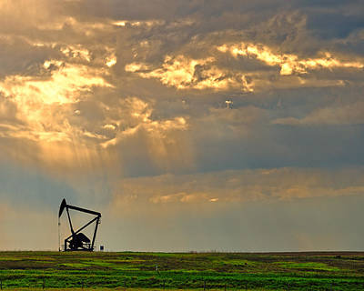 Oil Drill Rig Photograph - Layers Of Energy by Tony Beck