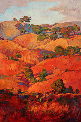 Layers Of Oak Print by Erin Hanson