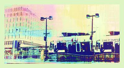 Metro Art Digital Art - Layers by Susan Stone