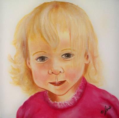 Kid Painting - Layla by Joni McPherson