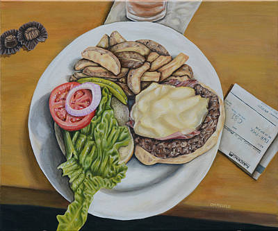 Hamburger Painting - Layover - Connection by Dawn Pfeufer