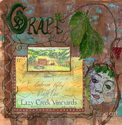 Lazy Mixed Media - Lazy Creek Vineyards by Tamyra Crossley