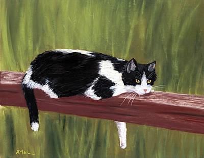 Feline Painting - Lazy Day by Anastasiya Malakhova