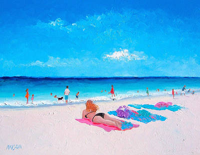 Summer Fun Painting - Lazy Day by Jan Matson