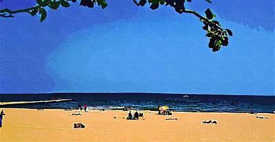 Lazy Mixed Media - Lazy Days On Beach by Skyler Tipton