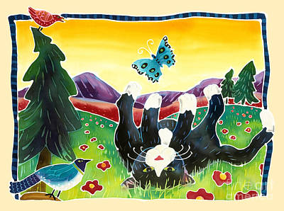 Summer Fun Painting - Lazy Kitty by Harriet Peck Taylor