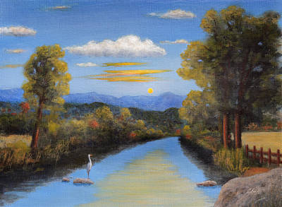 Mountain Valley Painting - Lazy River by Gordon Beck