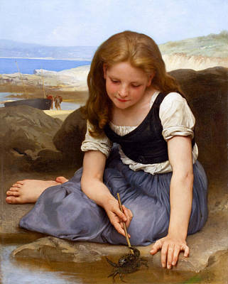 Le Crabe Print by William-Adolphe Bouguereau