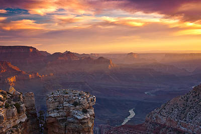 Grand Canyon Photograph - Le Grand Sunrise by Darren  White