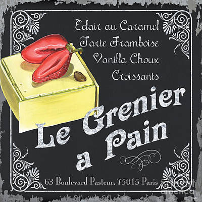 Strawberry Painting - Le Grenier A Pain by Debbie DeWitt