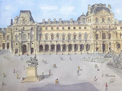 Louvre Painting - Le Louvre by Henrieta Maneva