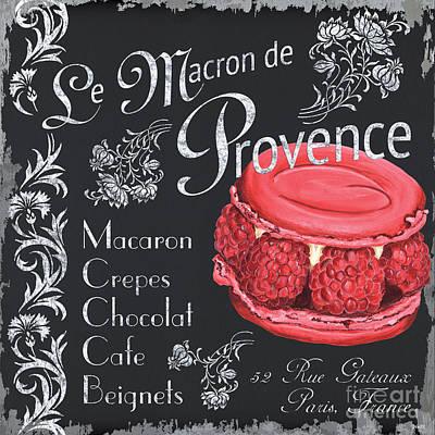 Raspberry Painting - Le Macron De Provence by Debbie DeWitt