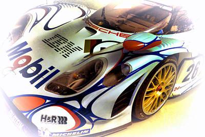 Circuit Photograph - Le Mans 1998 Porsche 911 Gt1 by Olivier Le Queinec
