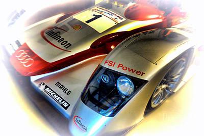 Circuit Photograph - Le Mans 2002 Audi R8 Fsi by Olivier Le Queinec