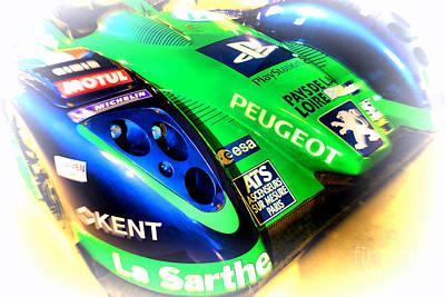 2009 Photograph - Le Mans 2009 Peugeot 908 Hdi Fap by Olivier Le Queinec