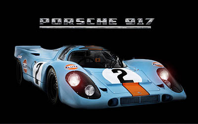 1971 Digital Art - Le Mans King by Peter Chilelli