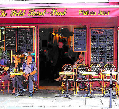 Le Petit Saint-paul In Paris Print by Jan Matson