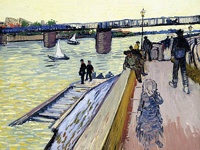 Le Pont De Trinquetaille Print by Vincent van Gogh