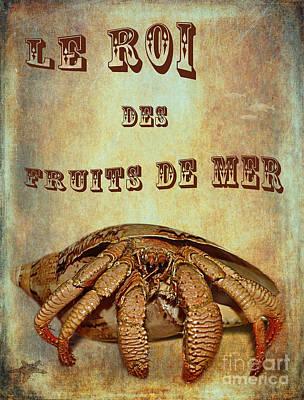 The King Photograph - Le Roi Des Fruits De Mer by Kaye Menner