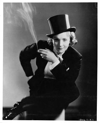 Le Smoking - Marlene Dietrich Print by Georgia Fowler