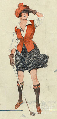 10s Drawing - Le Sourire 1919 1910s France Golf by The Advertising Archives