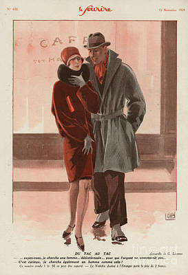 Womens Drawing - Le Sourire 1928 1920s France Womens by The Advertising Archives