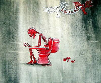 Toilet Painting - Le Tub II by Heather Calderon