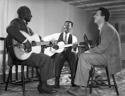 Josh Photograph - Leadbelly, Josh White, Nicholas Ray by Underwood Archives