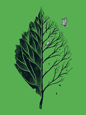 Digital Art - Leaf Of Life by Carbine